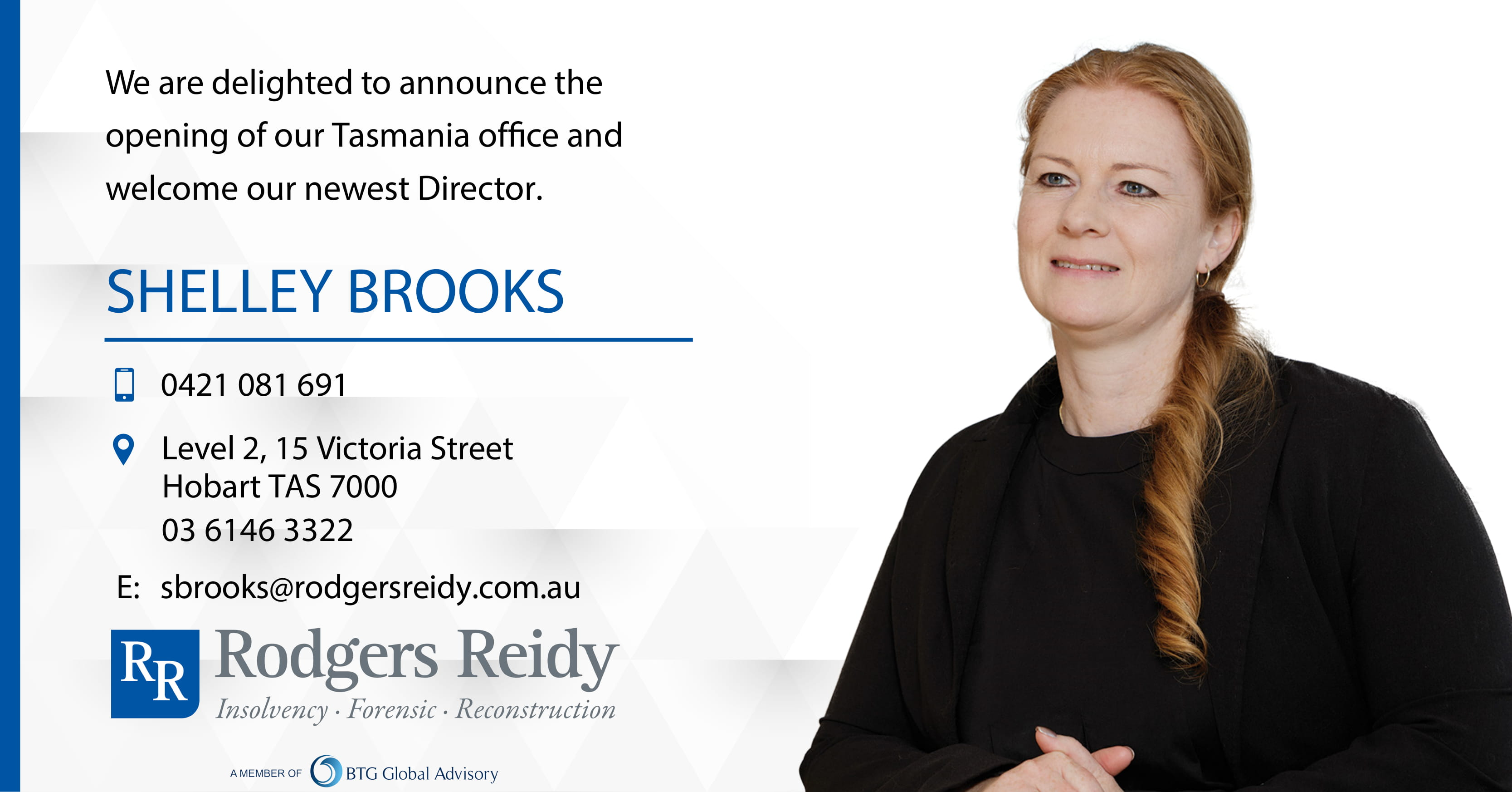 NEW: Rodgers Reidy TAS Office (Hobart)